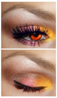 cute, love the eye shadow! love her eyelashes! and the color of her eyes!