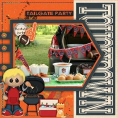 As I don't live in a football playing country, I had to look for inspiration on my favourite site…Pinterest.  Tailgate Party by BoomersGirl Designs  http://store.gingerscraps.net/Tailgate-Party-BGD.html has made me want to arrange a tailgate party…anyone got a pickup truck handy? ;) Paired with LissyKay Designs Touchdown template http://www.godigitalscrapbooking.com/shop/index.php?main_page=product_dnld_info&cPath=29_308&products_id=22487