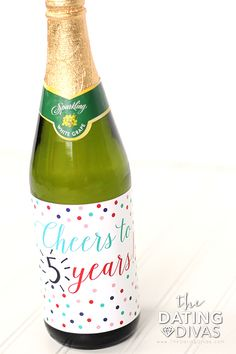 Personalized Bottle Label Anniversary Idea- this is cute!