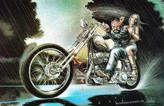 motorcycle artwork   Motorcycle Art - David Mann