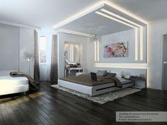 aménagement de maison grand lit avec un beau luminaire pour la chambre à coucher