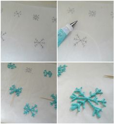 Pictorial-Easy Snowflakes using candy melts