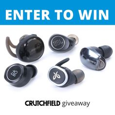 Enter to win 1 of 20 Truly Wireless Headphones Crutchfield is giving away