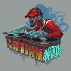ArtStation - The Get Down, Jomaro Kindred Graffiti Alphabet Styles, Graffiti Lettering Fonts, Arte Hip Hop, Hip Hop Art, The Get Down Netflix, Lps, Love Graffiti, Horror Artwork, Black Art Pictures