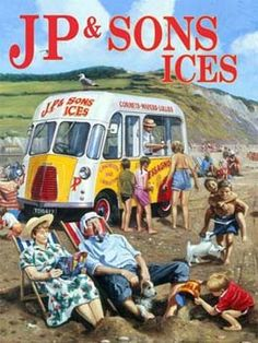JP & Sons Ice Cream Van - Metal Wall Sign Gift Ideas, Retro Sweets, Unique Gifts, Retro Gifts, Old Fashioned Sweets Advertising Signs, Vintage Advertisements, Vans Vintage, Vintage Style, London Flag, Rhyming Slang, Lyme Regis, Vintage Tin Signs, Ice Cream Van