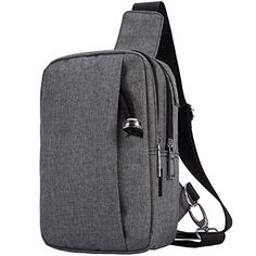 Meyfancy Sling Bag Shoulder Backpack Small Chest Crossbody Satchel for Women Men Gray *** Read more reviews of the product by visiting the link on the image.
