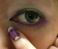Genderqueer Pride makeup