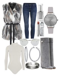"""Not Your Granny Gray"" by perceptionandco on Polyvore featuring Leighton Denny, Olivia Burton, Fendi, Jane Norman, Christian Dior, Body Editions, Givenchy, BERRICLE and Cartier"