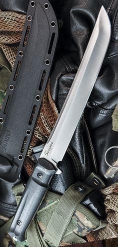 Sensei Satin Tactical Fixed Knife Blade by Kizlyar Supreme