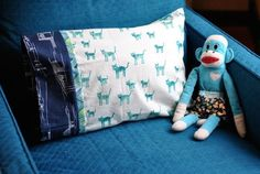 Learn a simple formula for adapting a common pillowcase pattern to fit any pillow you can find.