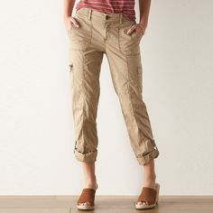Women's SONOMA Goods for Life™ Convertible Utility Pants, Size: 2, Med Beige
