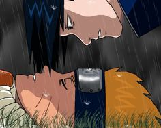 Naruto Uzumaki and Sasuke Uchiha at the Valley of the End.