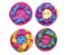 4 Knöpfe Polymer Clay von Lotte Knopf auf DaWanda.com