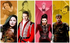Once Upon A Time - Snow White, Prince Charming, The Evil Queen, The Huntsman