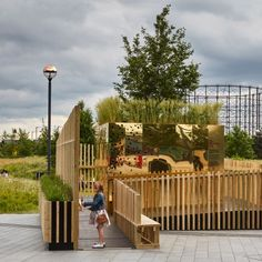 Architecture studio pH+ has created a pavilion in Greenwich that can be played like a giant musical instrument