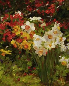 Kathy Anderson, Quince and Daffodils