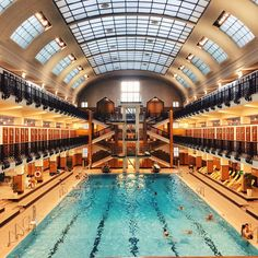 presents you the most beautiful indoor swimming pools in Vienna. Perfect for cold days by What A Wonderful World, Wonderful Places, Beautiful Places, Budapest, Pool Picture, Heart Of Europe, Indoor Swimming Pools, Inside Pool, Vienna