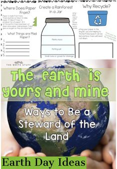 Practical and hands on environmental science lessons for primary learners. #science #earth #earthday