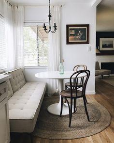 dining nook with sofa instagram @ellakoryaka