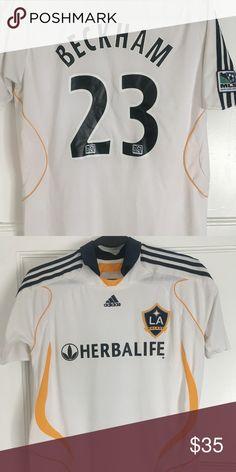 b1ac4c93a Adidas David Beckham LA Galaxy MLS Jersey Size  S