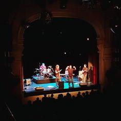 """Mark Kozelek singing """"I got you babe"""" with some random dude from the audience. #sunkilmoon #sadreminders #liveshot #concert #kozelek"""