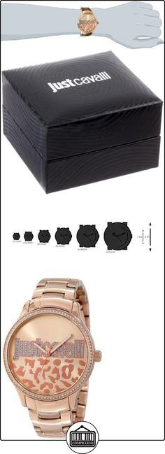 Just Cavalli R7253127507 - Reloj con correa de caucho para mujer, color marrón / gris de  ✿ Relojes para mujer - (Gama media/alta) ✿