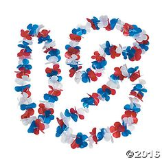 Patriotic Flower Leis