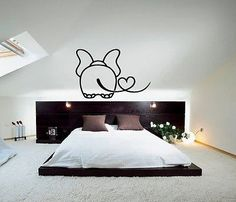 Wall Art Decoration Vinyl Decal Sticker Install Area : The decals can be applied on all smooth surfaces, such as Walls, Doors, Windows, Closets, Plastic, Metal, Tiles etc. - - Without much effort and