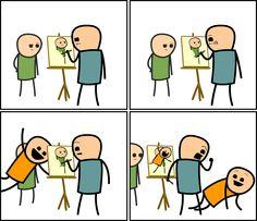 Paintingbomb, Cyanide & Happiness