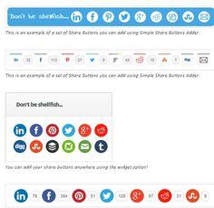 Iconos de redes sociales ligeros