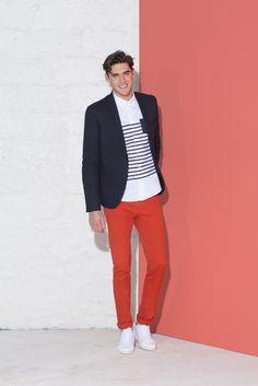 c35b6ffbd79b6 Succombez au pantalon 5 poches orange pour un look urbain graphique sport