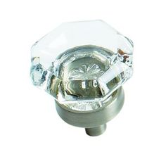 "Luminous - 1"" Glass Knob in Satin Nickel - Amerock"