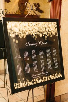 Simple escort card // seating chart display.  Photo: Matt Edge