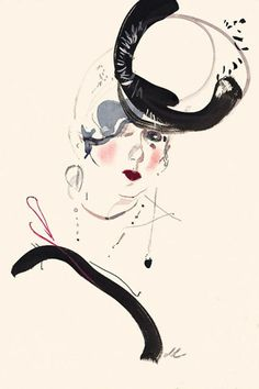 Anna Piaggi Tribute by David Downton