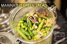Marinated Green Salad in a Jar