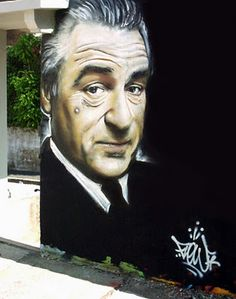 Robert Dinero by FLOW #street art #graffiti