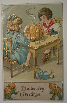 Vintage Halloween Postcard      B.W. by riptheskull, via Flickr