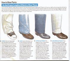 Men's pants length...