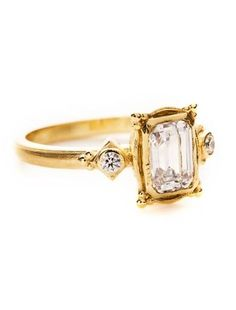I'd love this setting with white gold and a natural emerald!!!