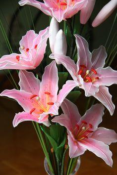 Nylon Lilies flower arrangement