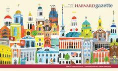 Harvard University Gazette Cover – Lisa Congdon Art + Illustration