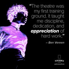 #BenVereen #theatre #theatrequotes #actingquotes #theatre #acting #actors #PerformerStuff Broadway Theatre, Musical Theatre, Broadway Shows, Musicals Broadway, Acting Quotes, Lea Salonga, Theatre Problems, Theatre Quotes, Ramin Karimloo