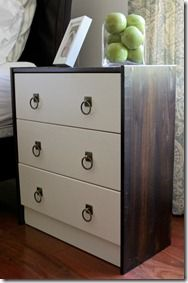 Rast Dressers from IKEA (solid timber) - altered with a combination of paint & stain, plus change handles to brass ring pull