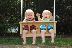 The Buddy swing is the perfect swing for your twins or two children!!