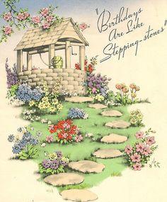 Birthdays are like stepping-stones... #vintage #birthday #cards