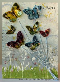 Layers of ink: Tutorial: Layered Background and Flying Butterflies - inspiration