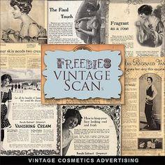❥ Freebies Vintage Cosmetics Advertising Illustrations