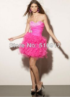 fashion homecoming dresses H2071 sweetheart tulle ball gown beading above knee mini free shipping wholesale