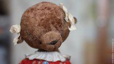 Купить Анютка. - бежевый, тедди, тедди медведи, теддик, плюшевая игрушка, Плюшевый мишка