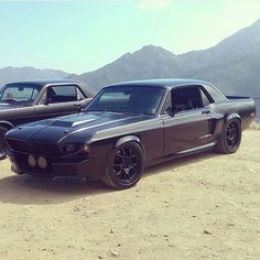 • @mustang.fame.page • Nasty '68 Mustang Coupe Owned by: @murdered_eleanor #ClassicCarsWorld